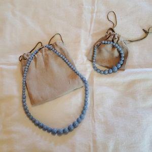Angelite Necklace and Bracelet Set